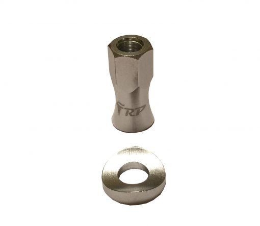 FRP rim lock alloy nut & washer silver
