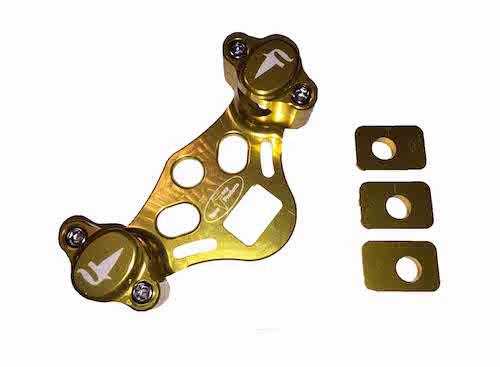 FRP adjustable handlebar clamps gold