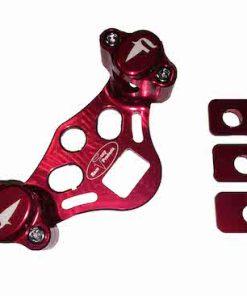 FRP adjustable handlebar clamps red