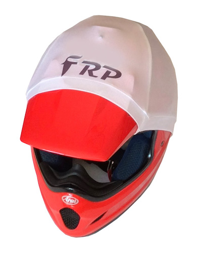 frp helmet colour white