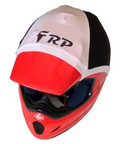 frp helmet colour white & black