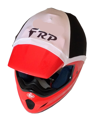 frp helmet colour white & black